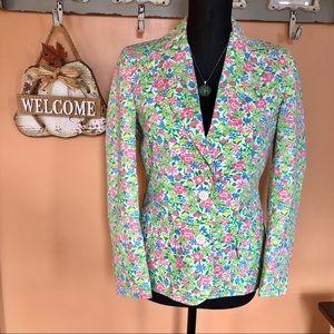 💐Vintage floral Spring blazer jacket size 6/8💐